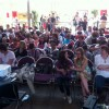 Le public des Dévoreurs attend la lecture dessinée du Fil de soie (Évreux 2014).