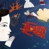 Au final, l'image de Delphine Jacquot réalisée en direct pendant la lecture.