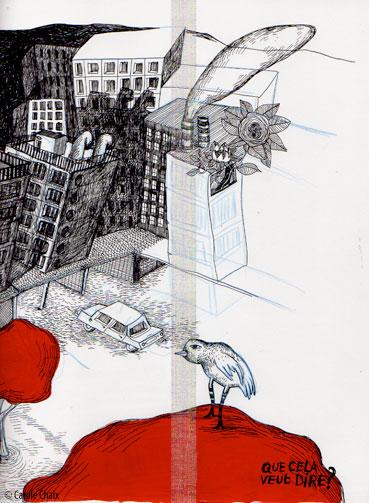 Un oiseau dans la ville, ©Carole Chaix